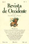 "Image: Cover scan of the book ""Revista de Occidente"""